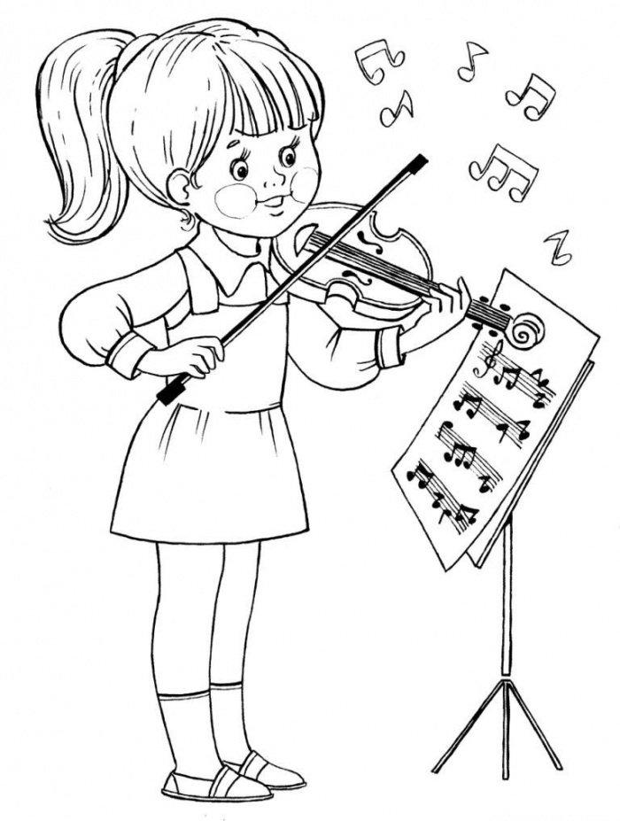 Черно-белые картинки поющих детей