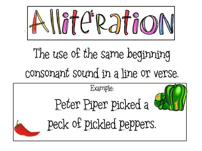 Alliteration Assonance Attachment Capitalization Graphon