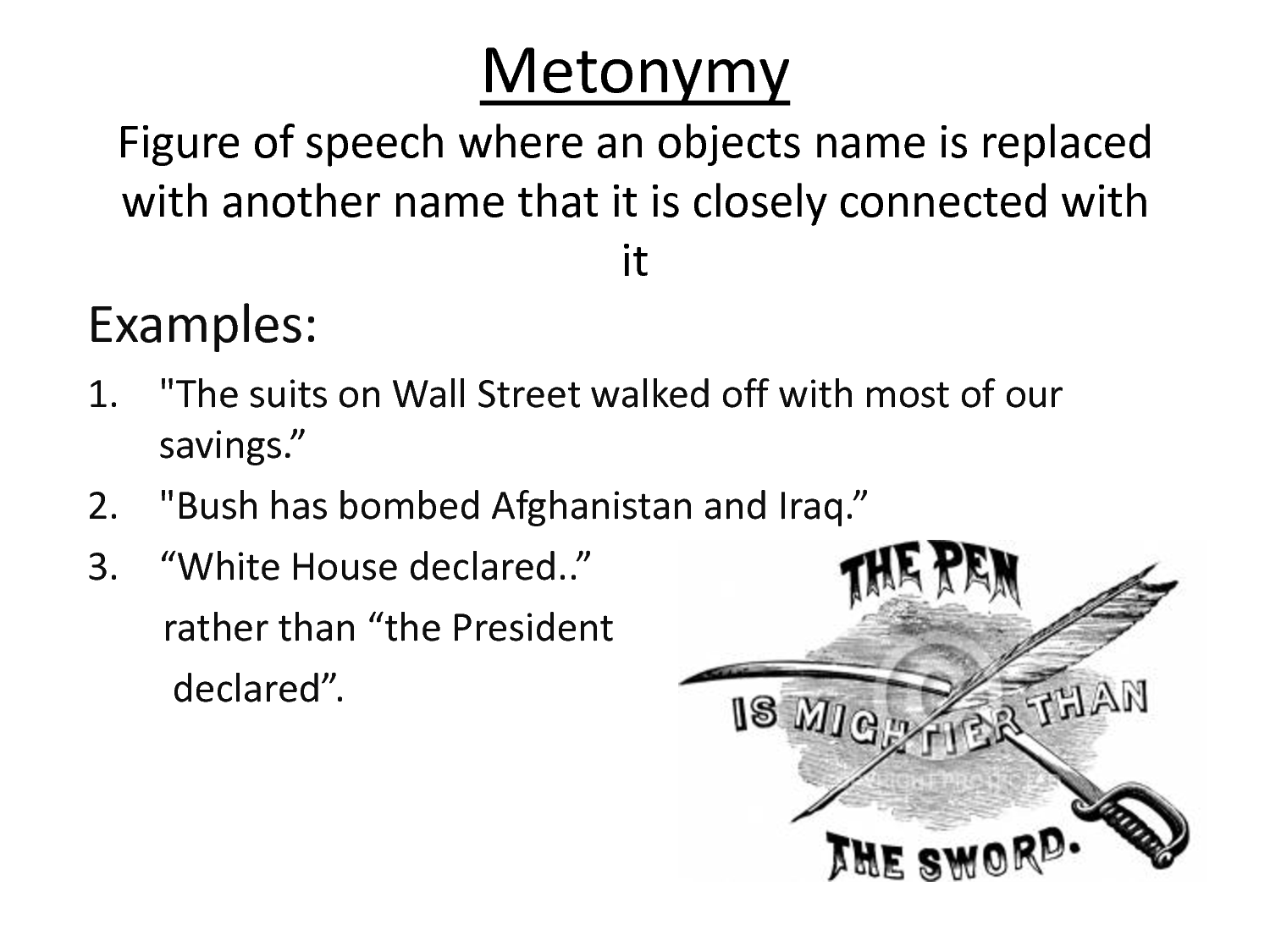 Metonymy And Metaphor Yvision