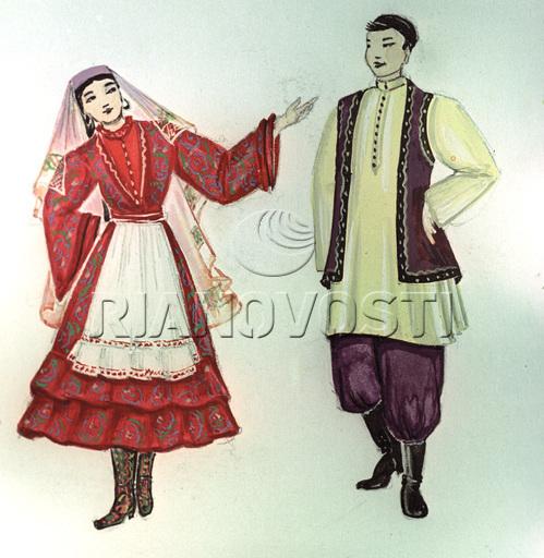фото татарский народный костюм