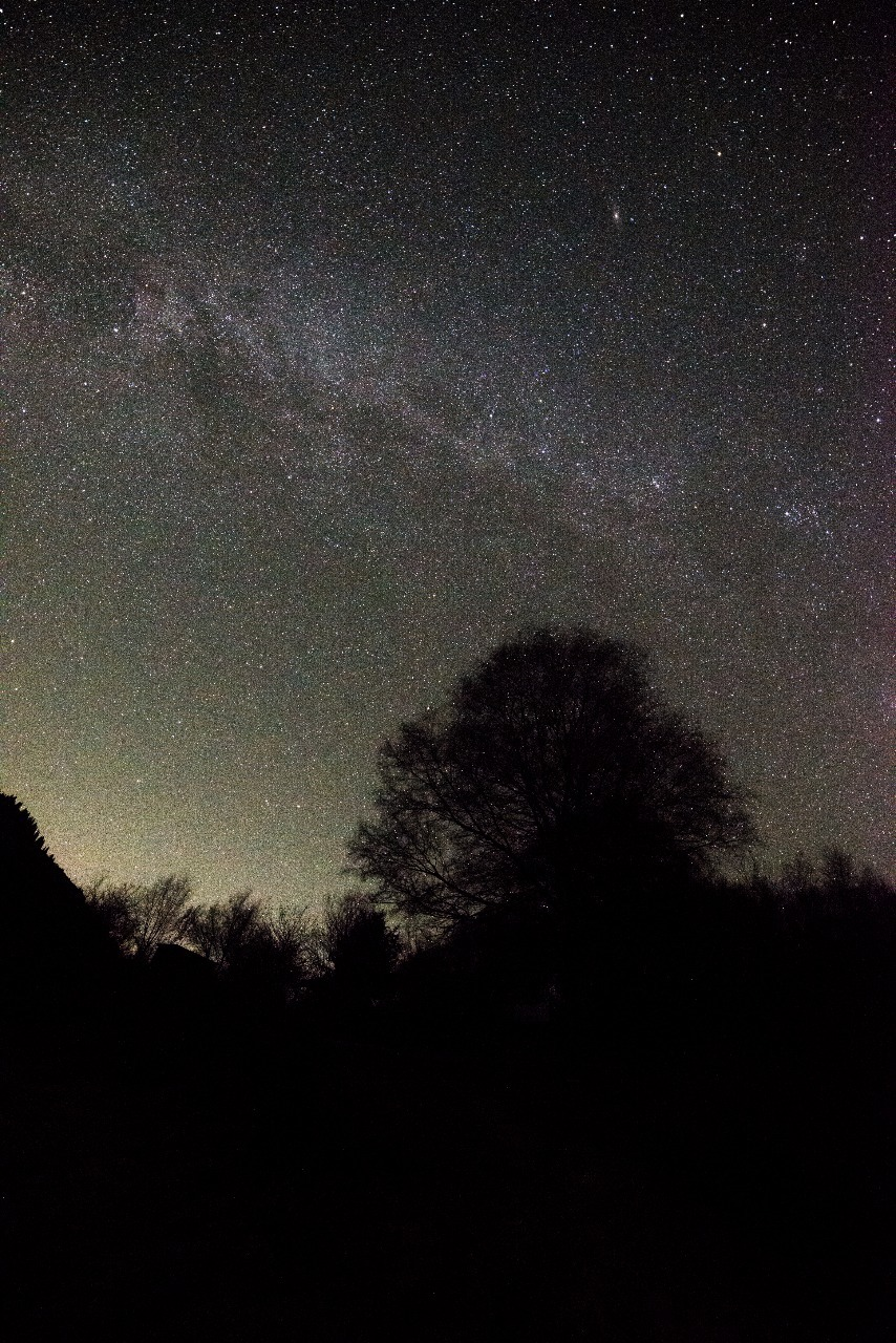 Звёздное небо над озером Иссык