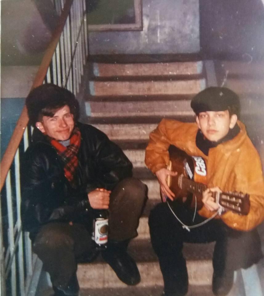 Андрей Гундарев (Алмазов) и Александр Гейкин в Тастаке, 90-е