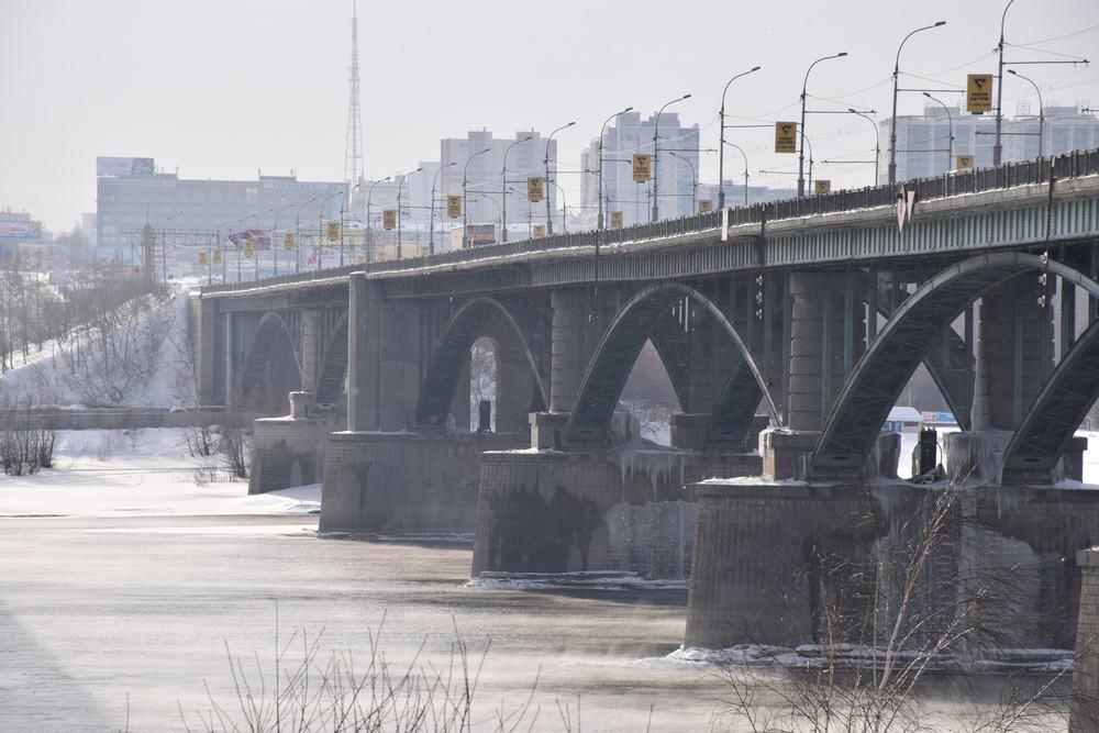 река Обь в Новосибирске