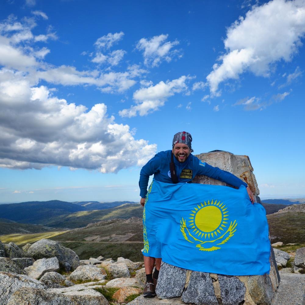 алматинский путешественник и горный гид Андрей Гундарев (Алмазов) на Костюшко в Австралии