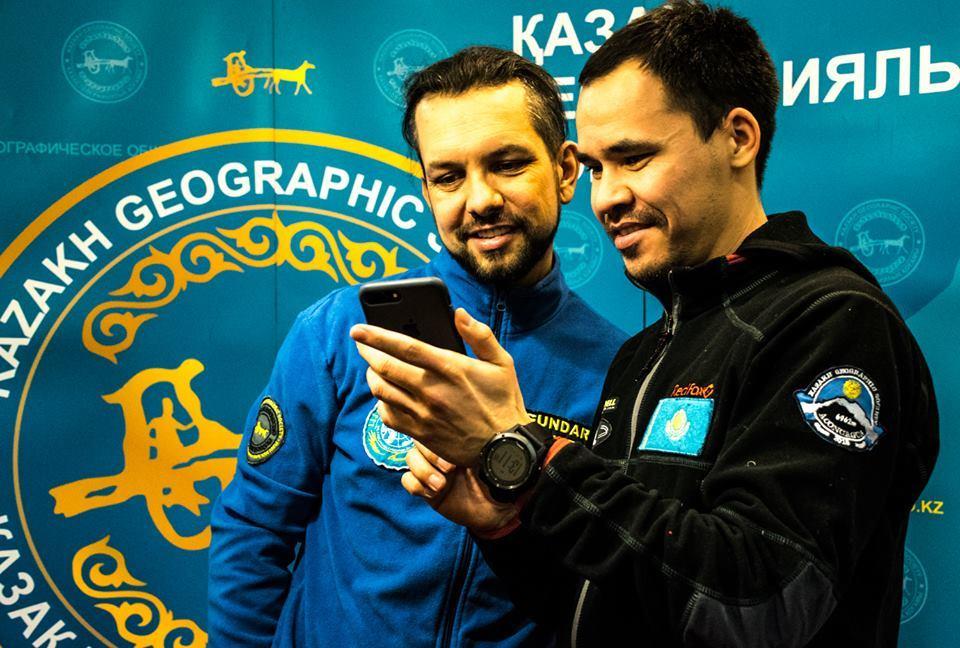 алматинские путешественники Андрей Гундарев (Алмазов) и Магжан Сагимбаев Каз ГЕО