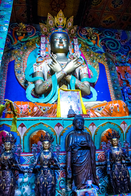 Восточный Тибет, монастырь Пангпхуг, статуя Дордже Чанга