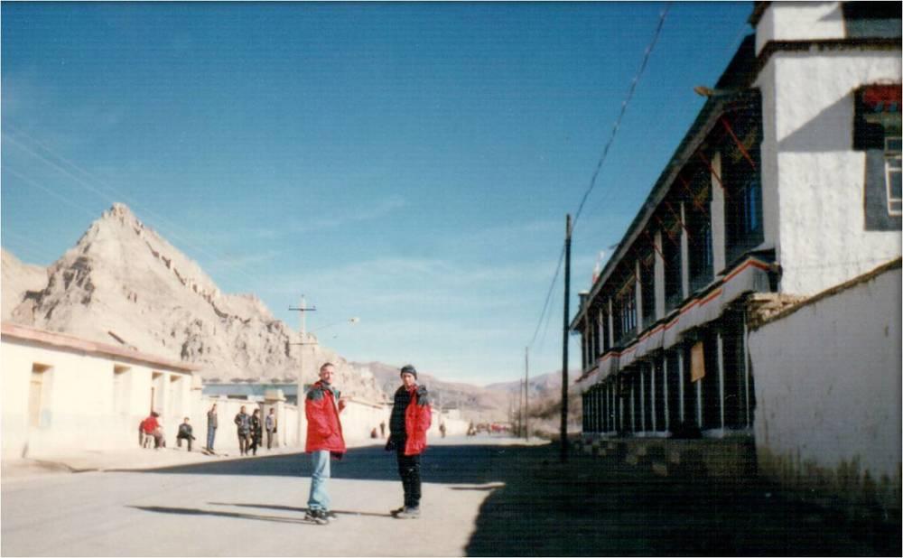 Посёлок Шигар (Тенгри) в Тибете.