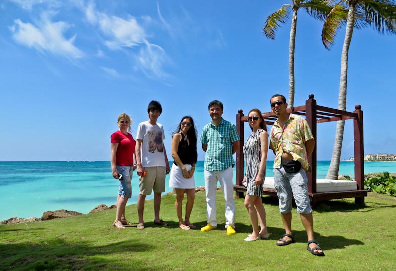 Команда первого казахстанского пресс-тура в Доминиканской Республике