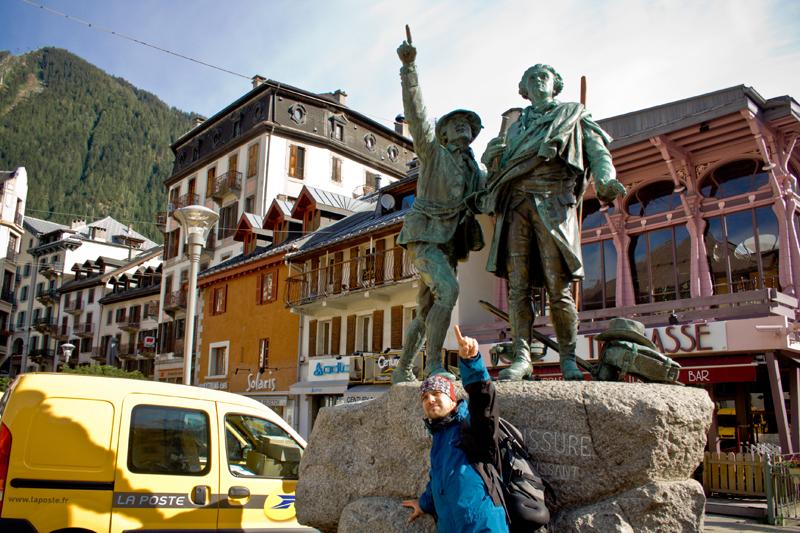 алматинский путешественник и горный гид Андрей Гундарев (Алмазов) в Шамони и первые альпинисты