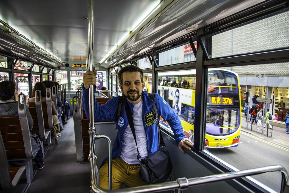 алматинский путешественник Андрей Гундарев (Алмазов) в Гонконге