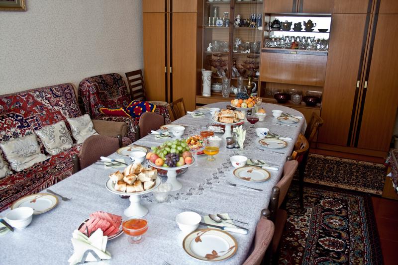 Советский стиль сервировки
