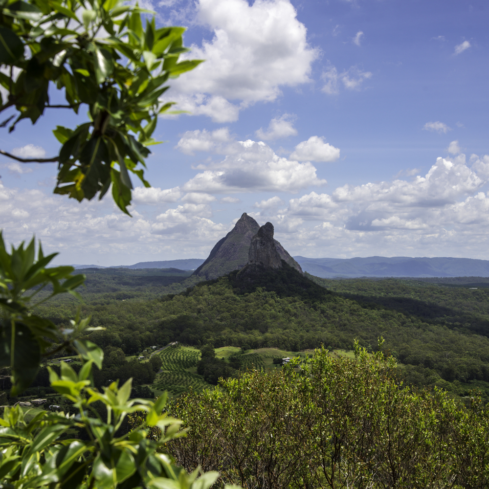 Glass House Mountains, холмы Гласс-Хаус, Квинсленд, Австралия