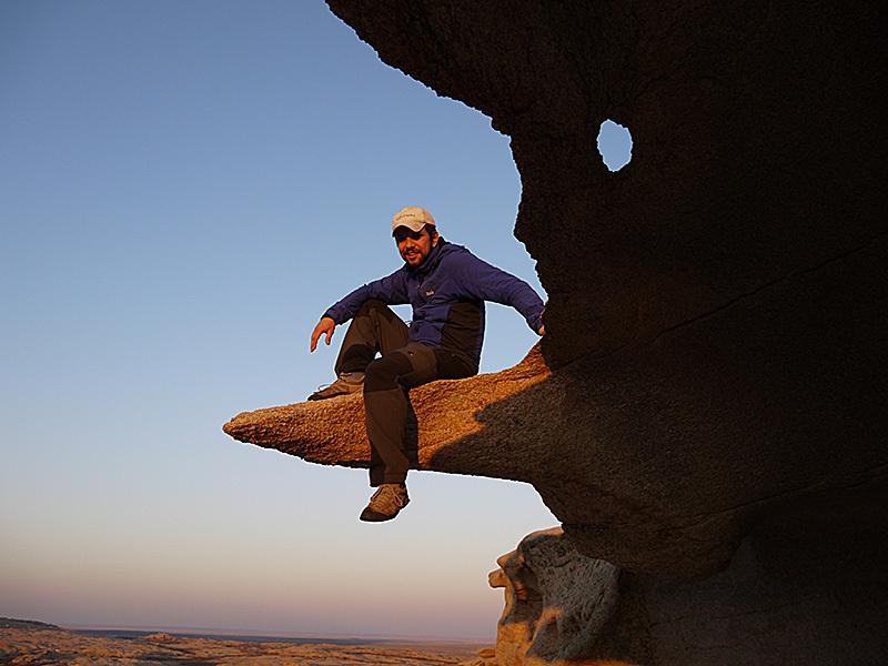 горный гид Андрей Гундарев (Алмазов) в урочище Бектау-Ата