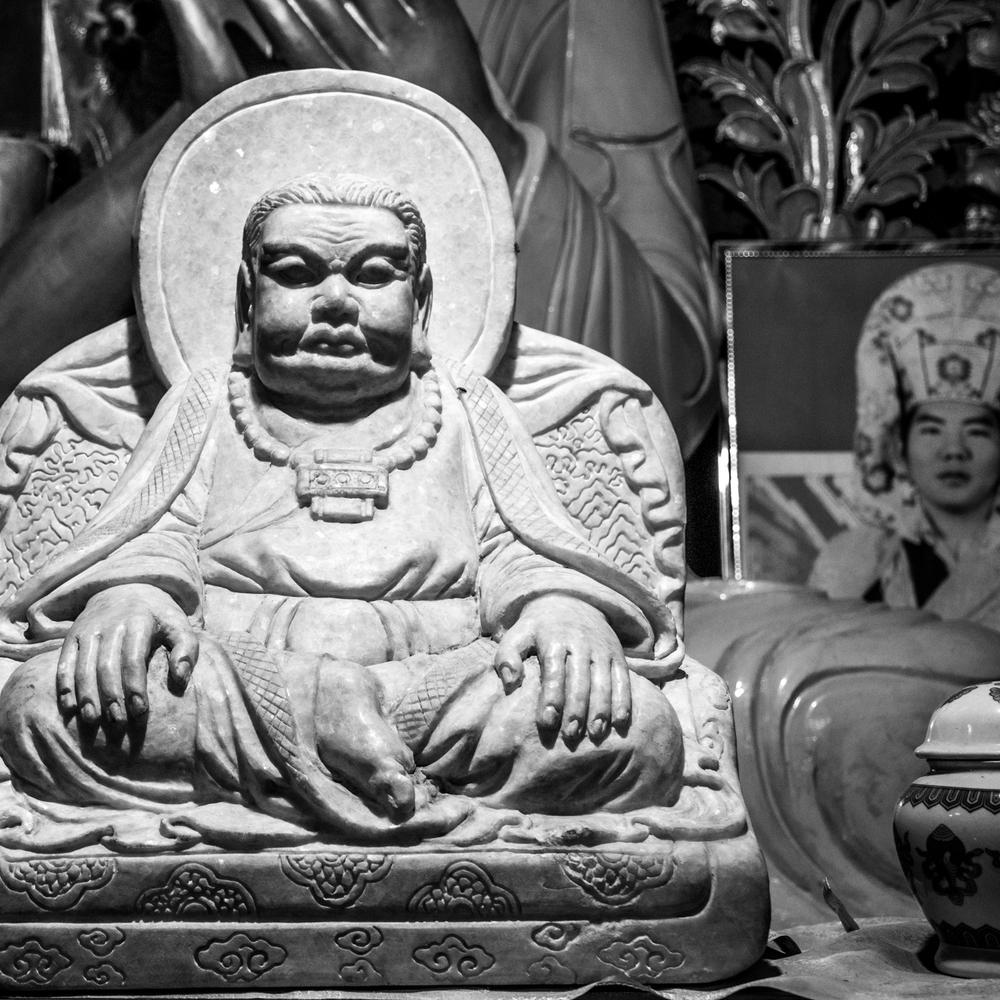 Восточный Тибет, монастырь Пангпхуг, статуя Марпы