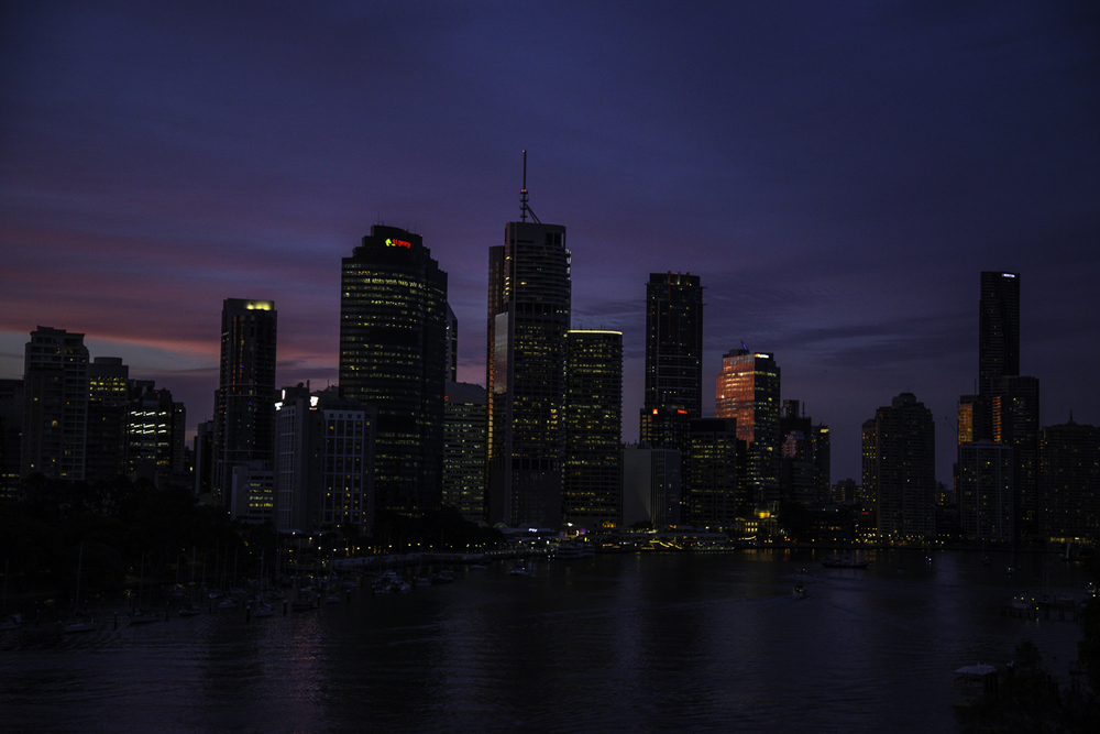 закат в Брисбене