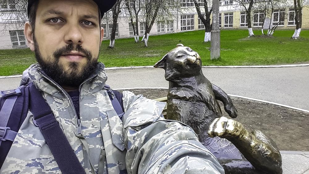 алматинский путешественник Андрей Гундарев (Алмазов) и Йошкин кот