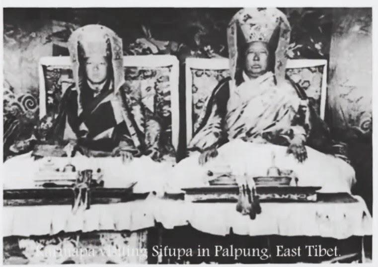 16-й Гьялва Кармапа Ранджунг Ригпе Дордже и 11-й Тай Ситу