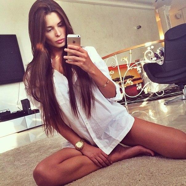 селфи красивых девушек фото