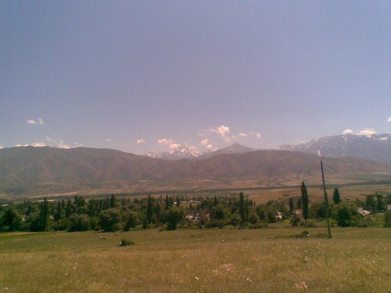 Горы и село