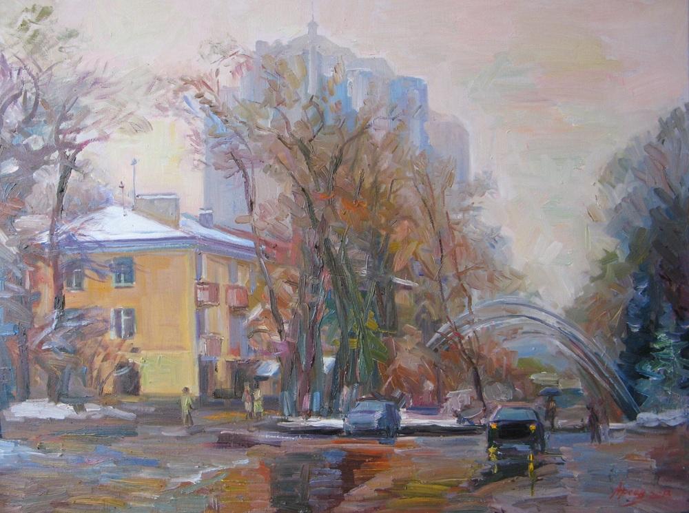 Арсен Даутбаев художник влюбленный в Алматы kz Некоторые работы Арсена Даутбаева