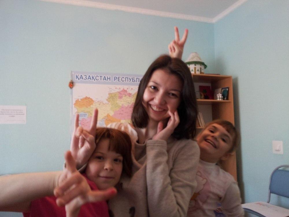 Наталья Ульченко в Кенжекольской детской деревне семейного типа