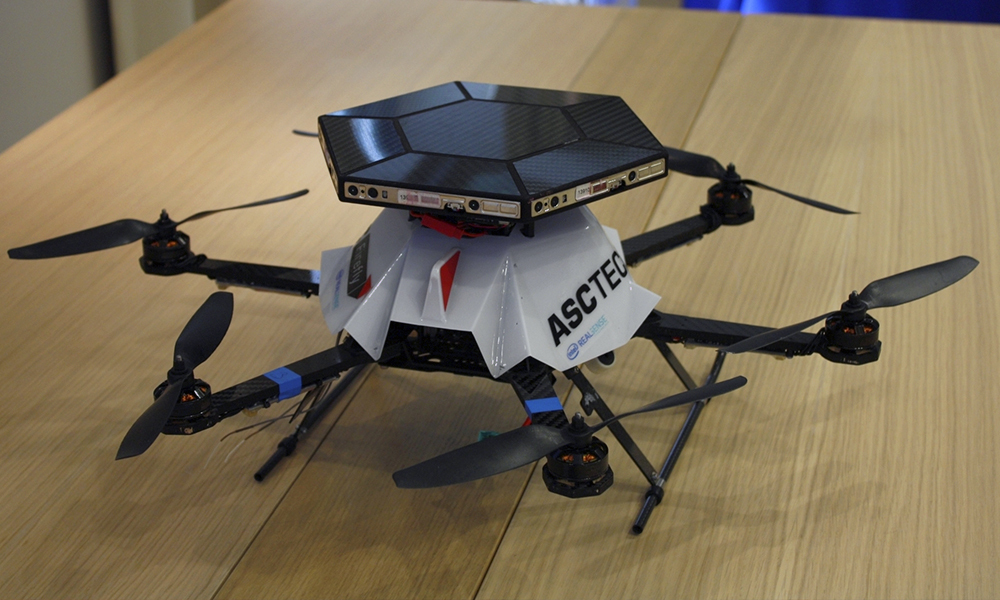 Intel RealSense Drone quadrocopter IFA 2015