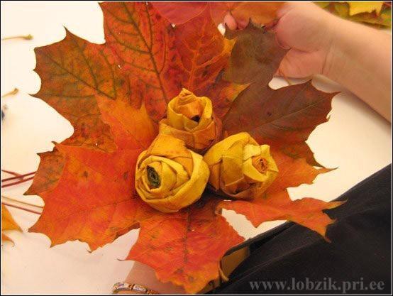 кленовые листья осень букет из листьев