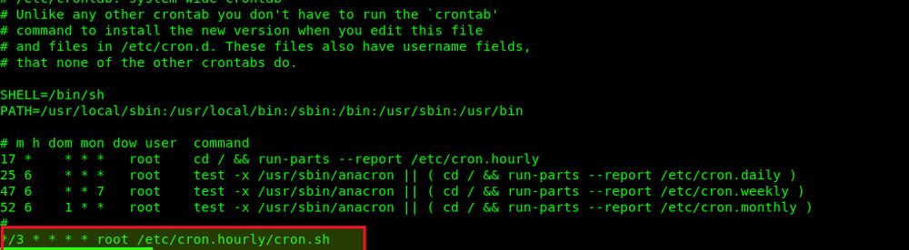 Расписание вируса linux ddos в crontab