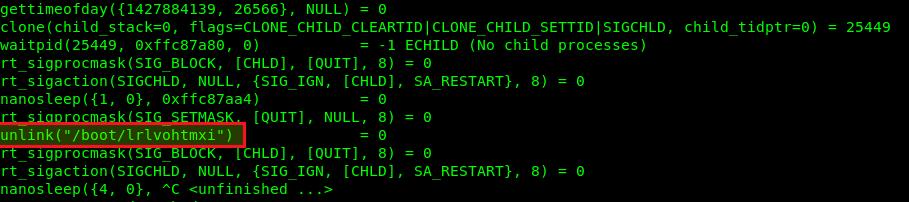 Просмотр системных вызовов процесса вируса linux ddos 3