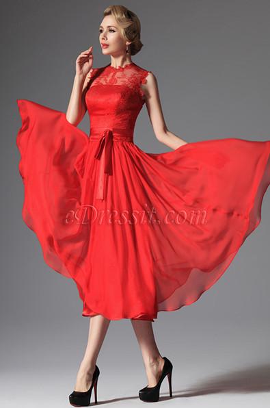Красивые сексуальные вечерние платья красного цвета