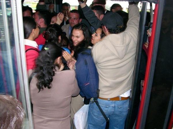 Свою жену приставание в общественном транспорте смотреть телку