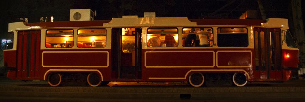 трамвай-кафе, алматы