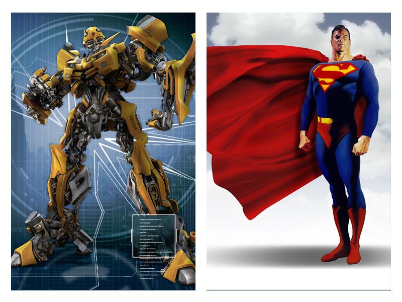 Супермен и трансформер