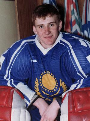 Евгений Набоков в форме сборной Казахстана