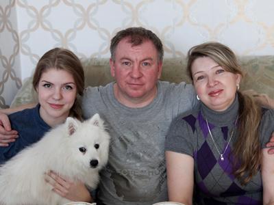 Андрей Псарёв и его семья