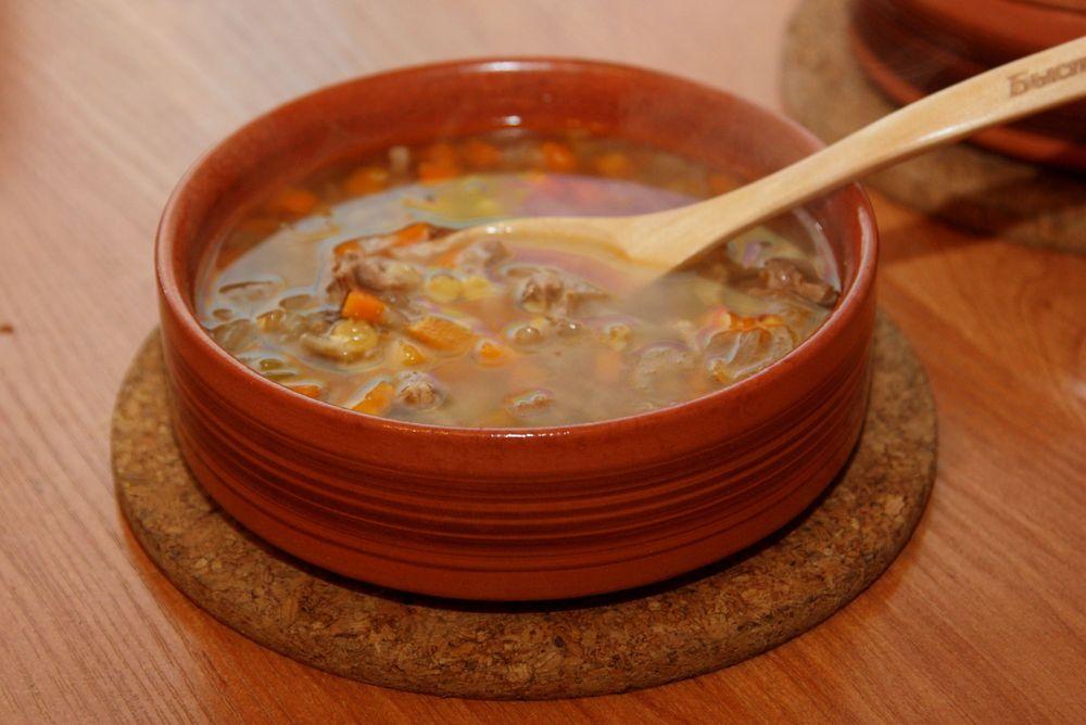 Гороховый суп в духовке в горшочке в духовке