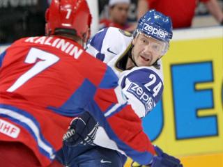 Константин Шафранов в матче Россия - Казахстан