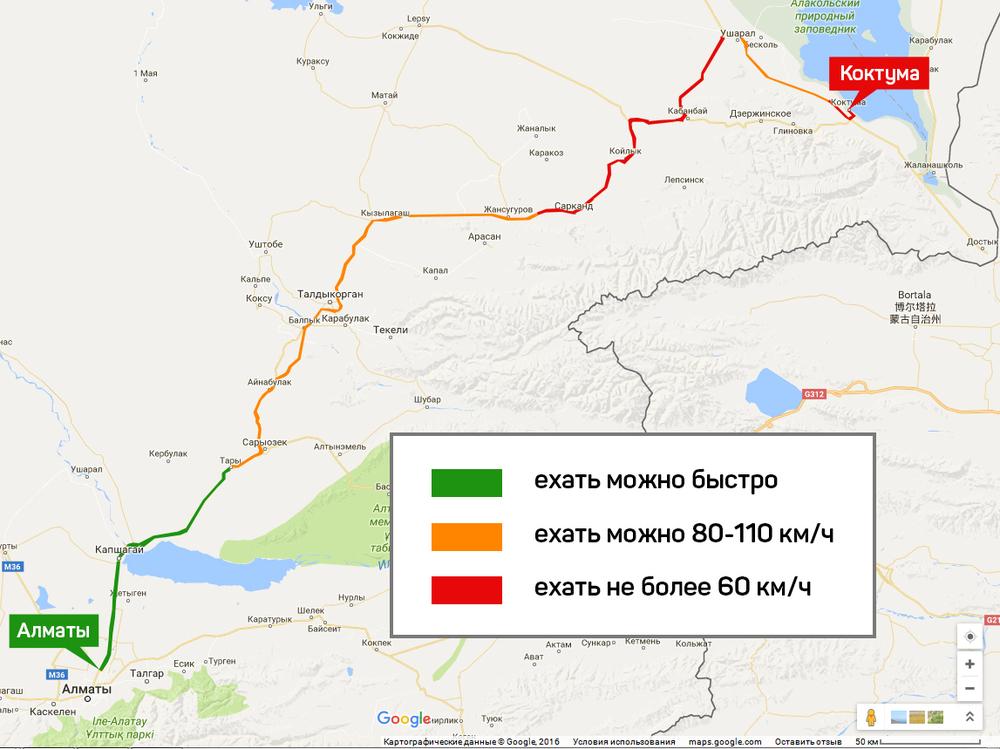 Дорога до Алаколь с Алматы