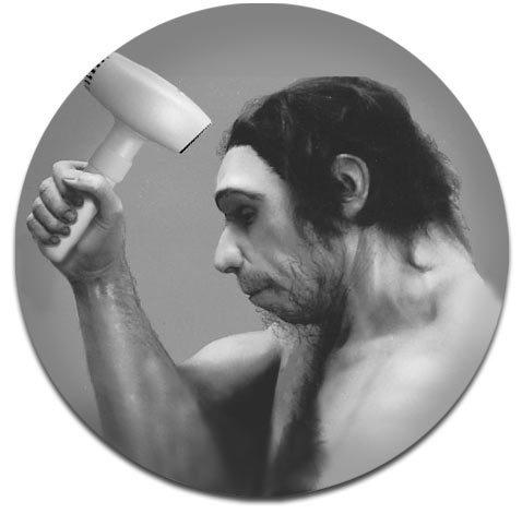 Stoneage hairdryer. Tim Aktaev, 2011