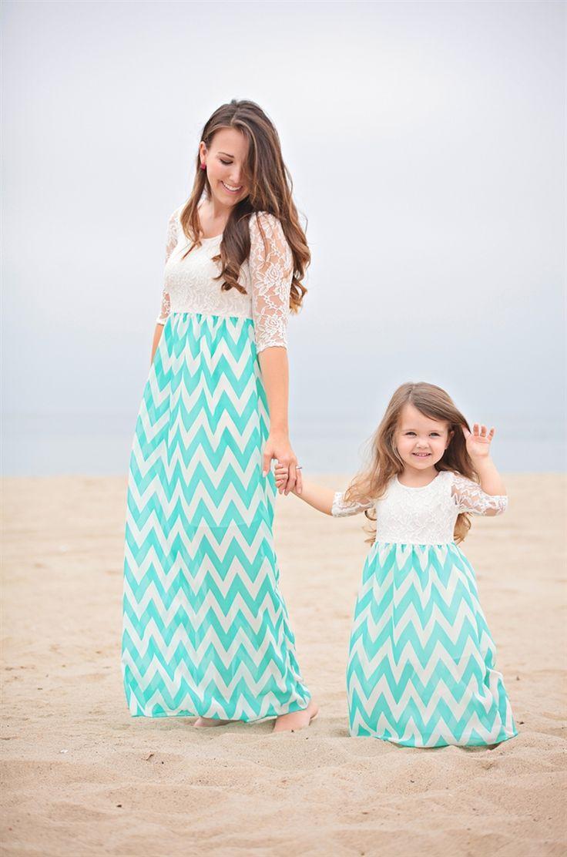 Платье для мамы и дочки в одном стиле сшить 53